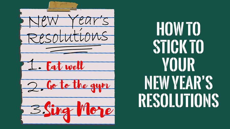 Post it with new year's resolutions